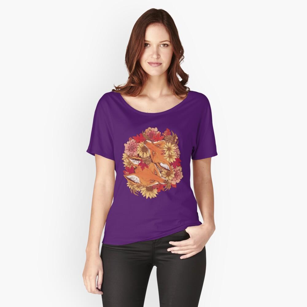 Autumn Fox Bloom Camiseta ancha