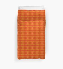 Orange and Orange Argyle Duvet Cover
