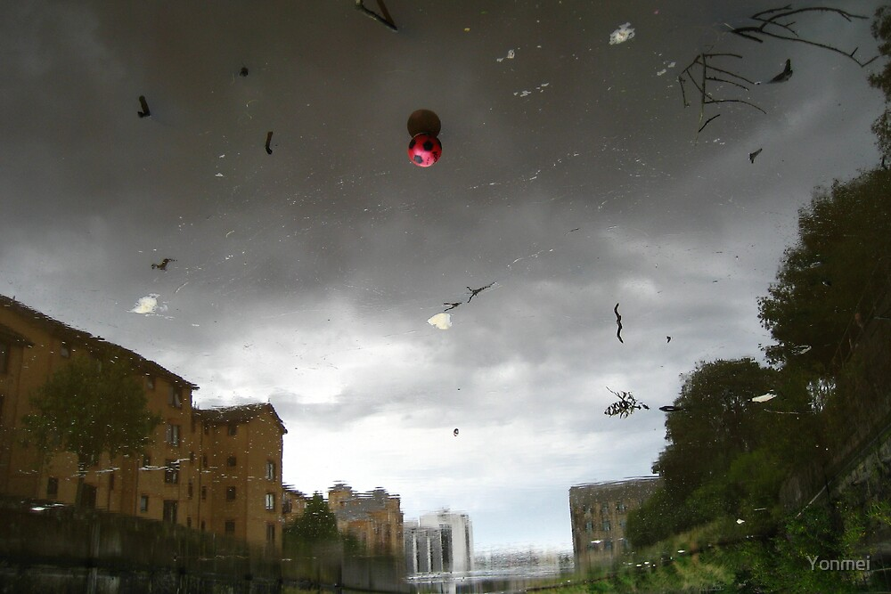 Strange Sky, Red Ball by Yonmei