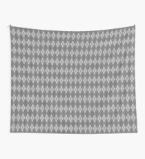 Gray and Gray Argyle Wall Tapestry