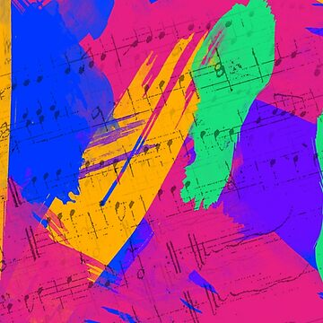 Wild Paint Brush Colors and Music Sheets by Gravityx9
