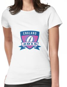 Rugby Ball England 2015 Shield Retro Womens Fitted T-Shirt