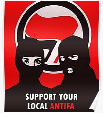 Support Your Local Antifa - Anti-Fascist Action Poster