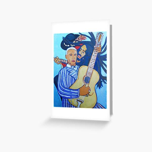 Twelve Strings Greeting Card