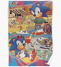 look-in sonic poster Poster