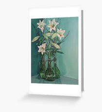 White Liliums Greeting Card