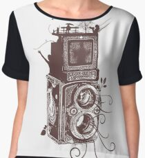 Retro Rolleiflex - Evolution of Photography - Vintage #2 Women's Chiffon Top
