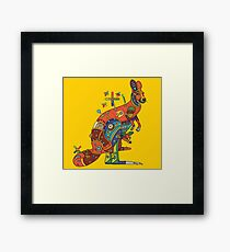 Kangaroo, from the AlphaPod collection Framed Print
