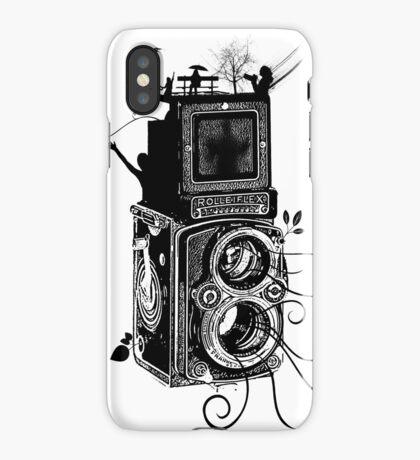 Retro Rolleiflex - Evolution of Photography - Vintage iPhone Case/Skin