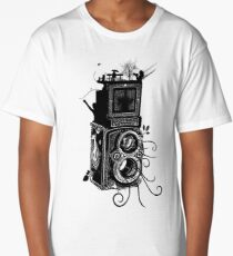 Retro Rolleiflex - Evolution of Photography - Vintage Long T-Shirt