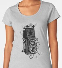 Retro Rolleiflex - Evolution of Photography - Vintage Women's Premium T-Shirt