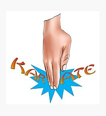 Karate Chop Photographic Print