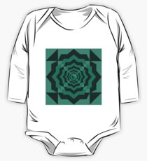 Green in Shapes One Piece - Long Sleeve