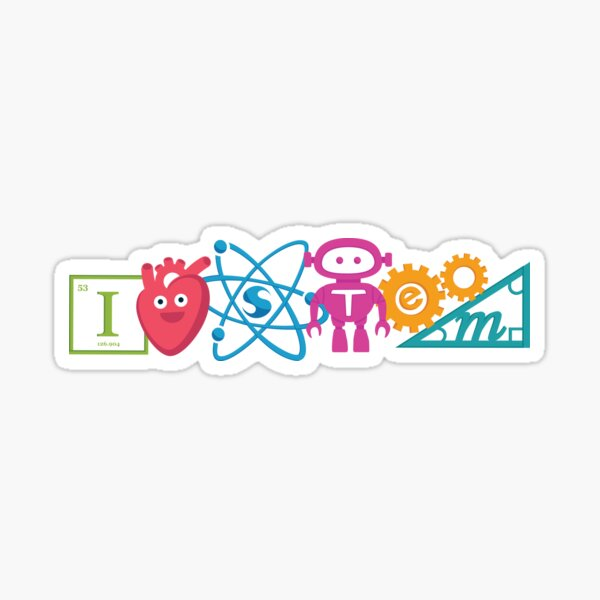 I Heart STEM! Sticker