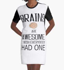 Funny Brains gift, skull mind wisdom costume tees shirts Graphic T-Shirt Dress