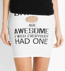 Funny Brains gift, skull mind wisdom costume tees shirts Mini Skirt