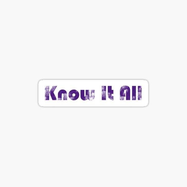 Know It All Vintage Sticker
