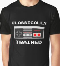 Classically Trained - Nintendo Games Gamer Video Games Nerd Geek Play Station Graphic T-Shirt