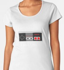 Classically Trained - Nintendo Games Gamer Video Games Nerd Geek Play Station Women's Premium T-Shirt