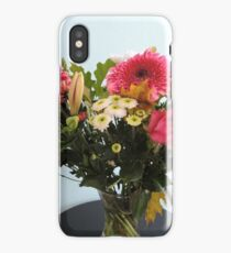 Fuchsia, White & Teal With Love iPhone Case