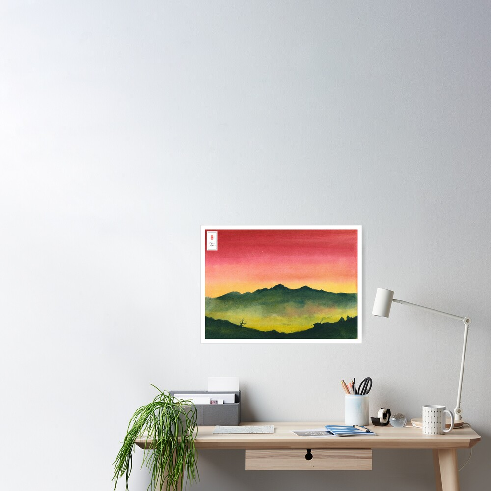 Red Dusk Poster