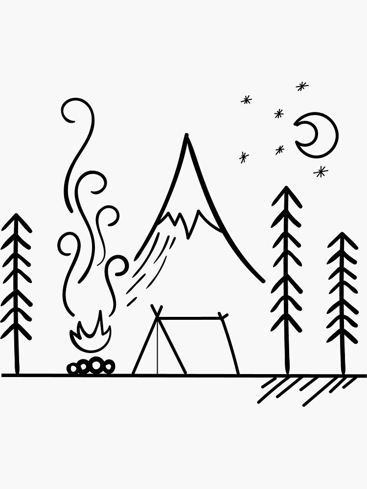 Camping Szene im Freien von tbootz