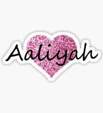 Aaliyah Pink heart Sticker