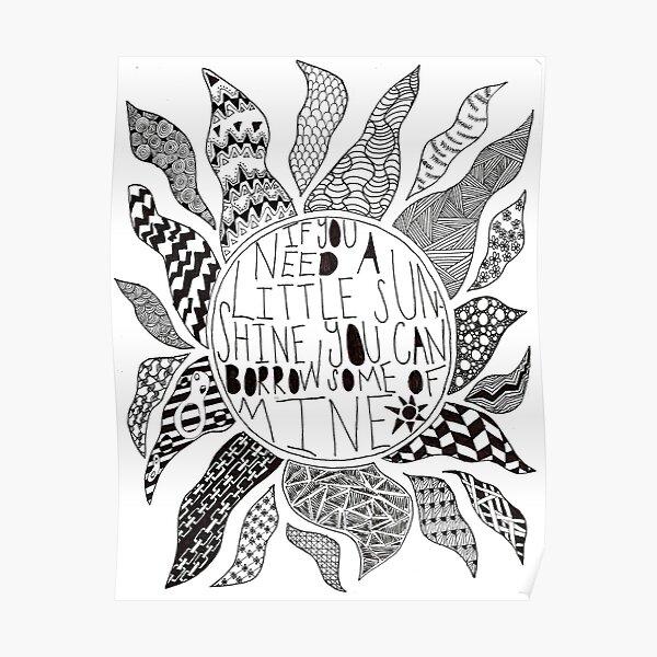 TFB Sunshine Zentangle Poster