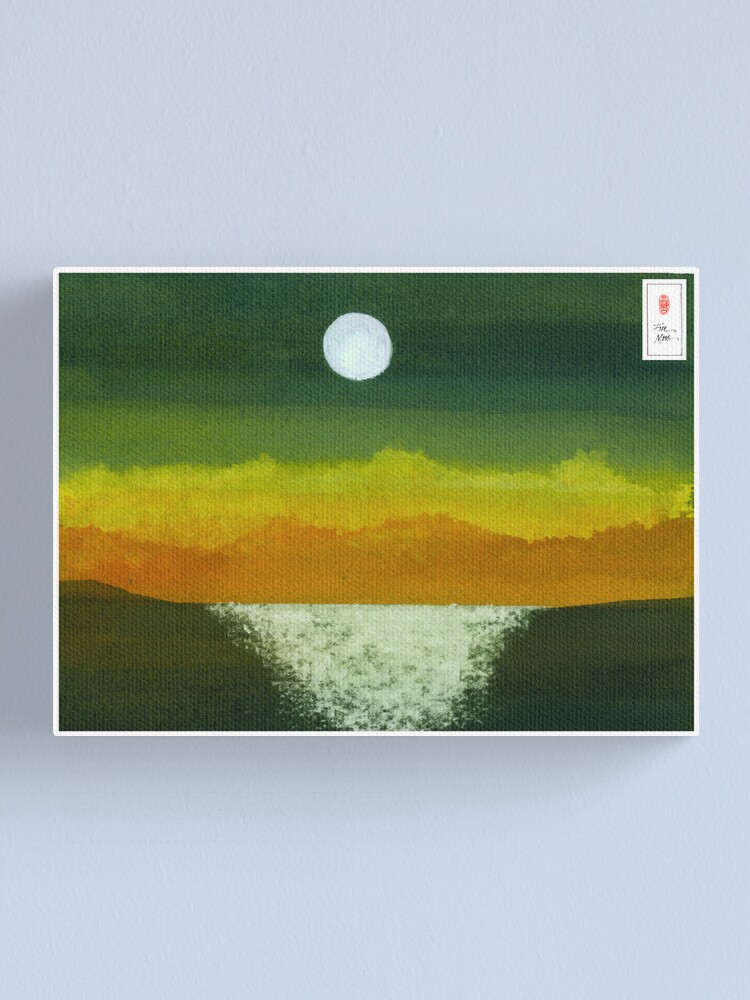 Alternate view of Moon and Ocean Canvas Print