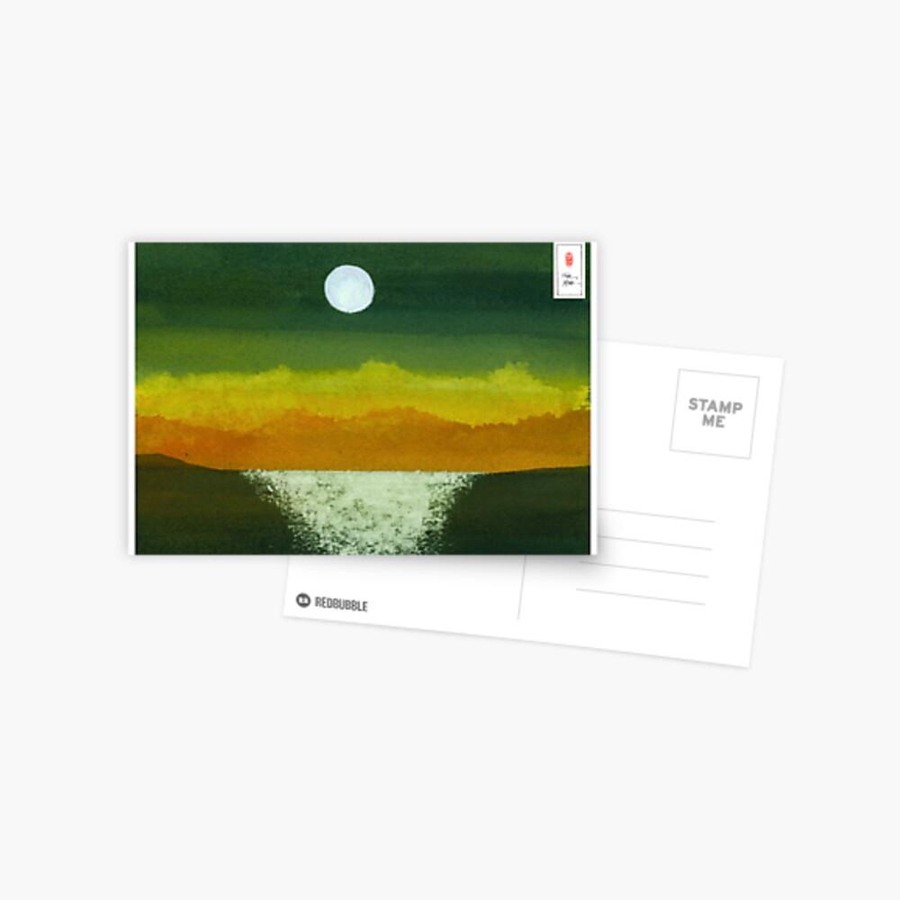 Moon and Ocean Postcard