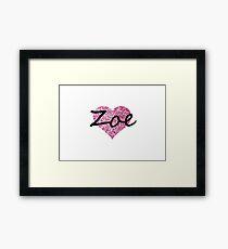Zoe Ping glitter heart Framed Print