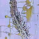 Bohemain feather with gold detail by Alicia Rogerson