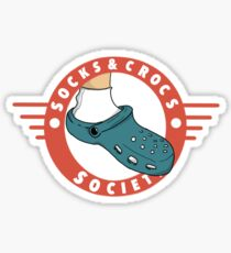 Socks & Crocs society crest Sticker