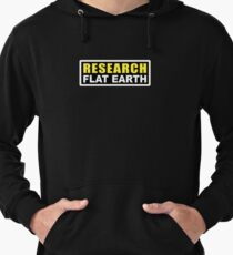 RESEARCH FLAT EARTH (1st Billboard graphics) Lightweight Hoodie