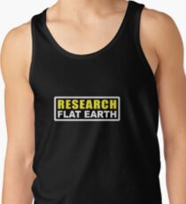 RESEARCH FLAT EARTH (1st Billboard graphics) Tank Top