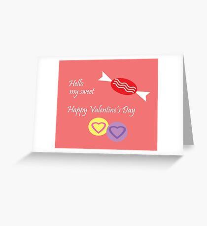 Hello My Sweet Greeting Card