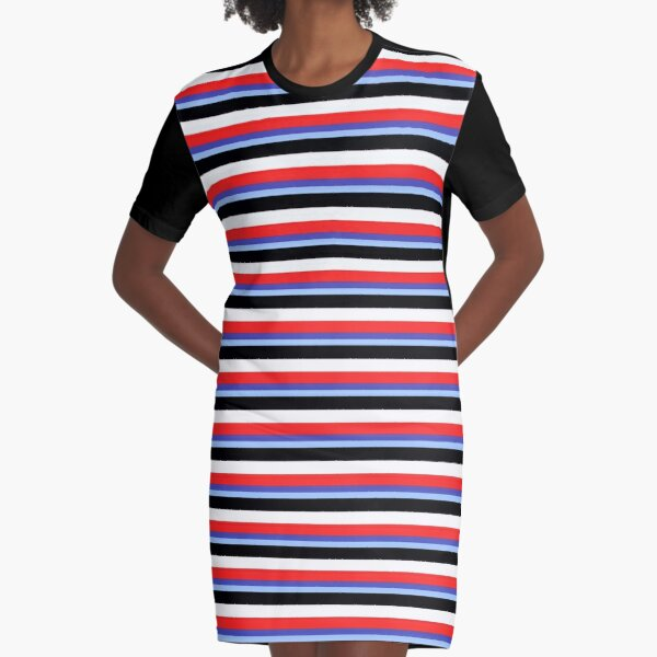 Jeremy Heere - Be More Chill stripes Graphic T-Shirt Dress