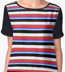 Jeremy Heere - Be More Chill stripes Women's Chiffon Top