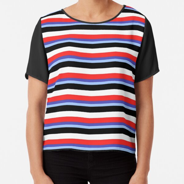 Jeremy Heere - Be More Chill stripes Chiffon Top