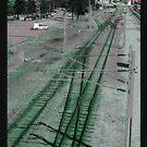 «Vías del tren de Vaporwave» de AtomicLukai