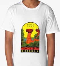 Wisconsin Dells Stand Rock Vintage Travel Decal Long T-Shirt