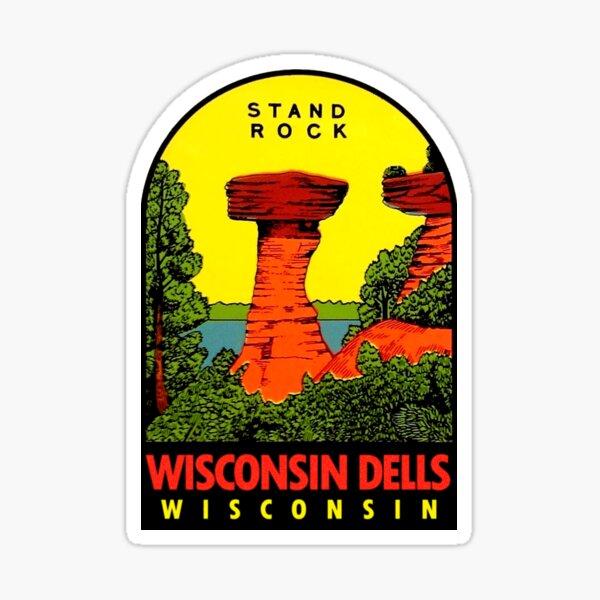 Wisconsin Dells Stand Rock Vintage Travel Decal Sticker