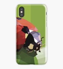 Ladybug on a Leaf | Low poly Vector iPhone Case/Skin