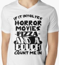 If It Involves Horror Movies... Count Me In! Men's V-Neck T-Shirt