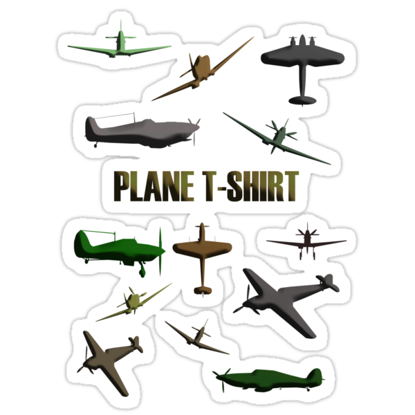 Plane T-Shirt by Sharon Stevens