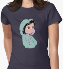 Hooded Glitch Women's Fitted T-Shirt