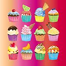 Cupcakes Galore Delicious Yummy Sugary Sweet Baked Treats by Beverly Claire Kaiya