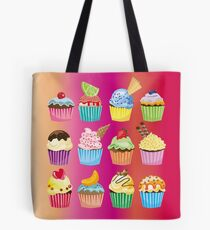 Cupcakes Galore Delicious Yummy Sugary Sweet Baked Treats Tote Bag