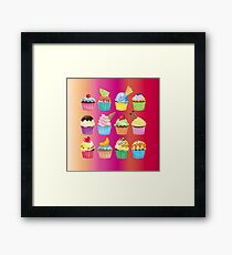 Cupcakes Galore Delicious Yummy Sugary Sweet Baked Treats Framed Print