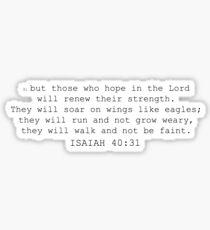 isaiah 40:31 Sticker
